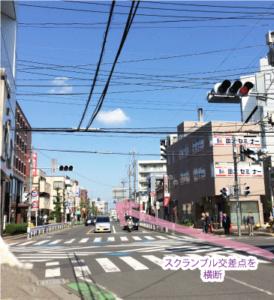 スクランブル交差点の写真