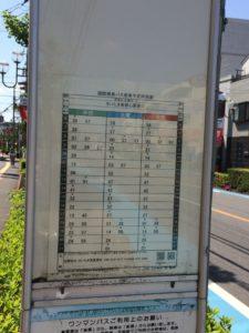 2018年4月現在の上木崎四丁目バス停運行ダイヤ