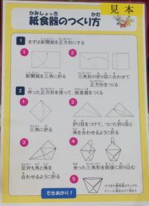 紙コップの折り方解説